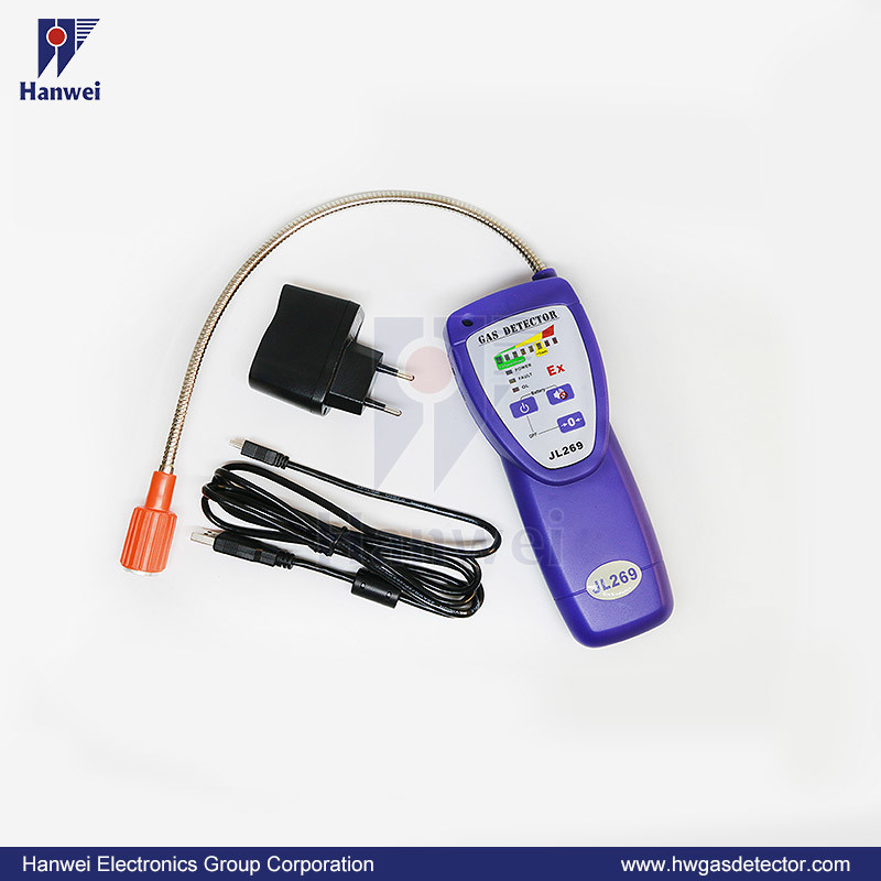 Portable LED/LCD 3.7V Rechargeable Battery H2 Gas Leak Detector