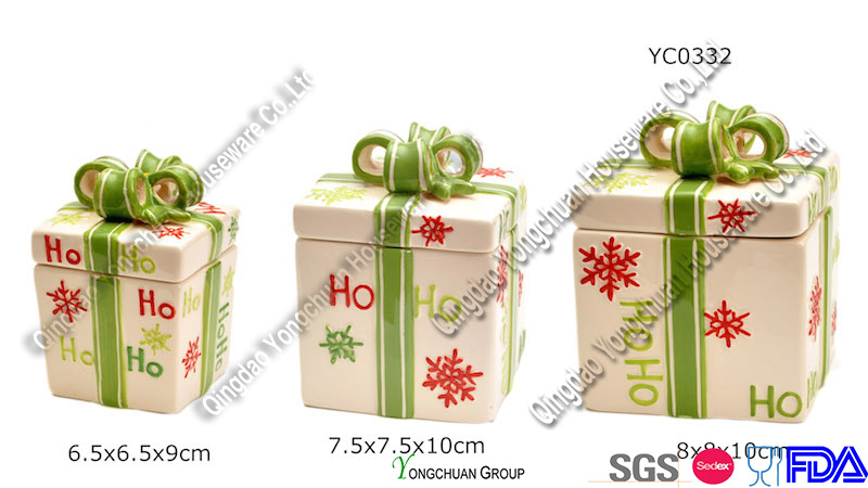 Christmas Decorative Cookie Jar (YC1002)