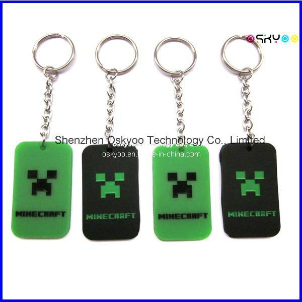 Custom 3D Logo Promotion Gift Soft PVC Rubber Keychains