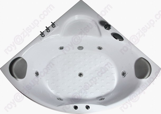 CE ISO9001 ABS Indoor Corner Massage Bathtub (CL-340)