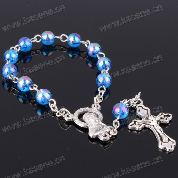 Wholesale Pretty Mixed Color Plastic Bead Holy Catholic Decade Rosary