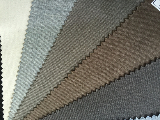 Wool Fabric Ready Stock with Polyester