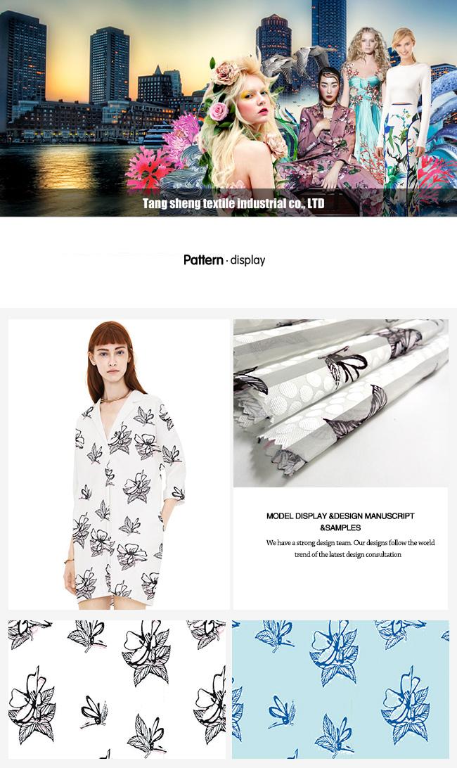 Garment Home Textile Printed Fabric Organza Fabric with Fashion Design