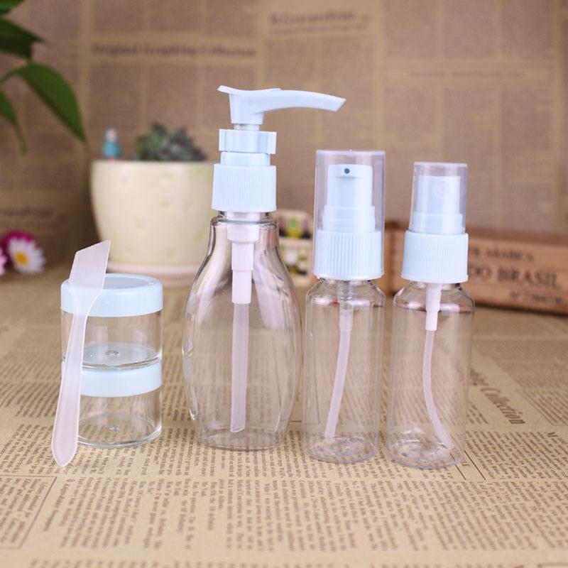 Plastic Travel Set, Pump Sprayer Bottle, Cosmetic Jar (PT10)