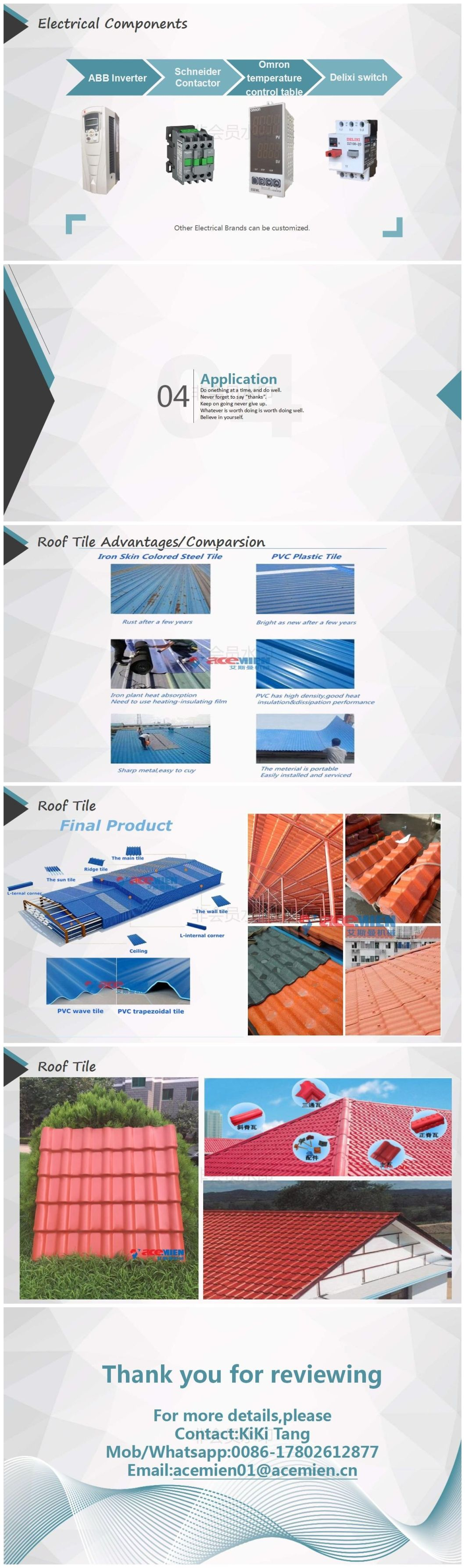 Plastic PVC Bamboo Roof Tile Making Machine/Glazed Tile Roll Forming Making Machine