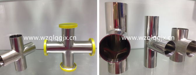 Sanitary Stainless Steel Pipe Fitting Cross