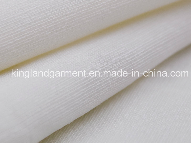 Polyester White Stripe Wide Width Inherently Fire Retardant Fireproof Voile