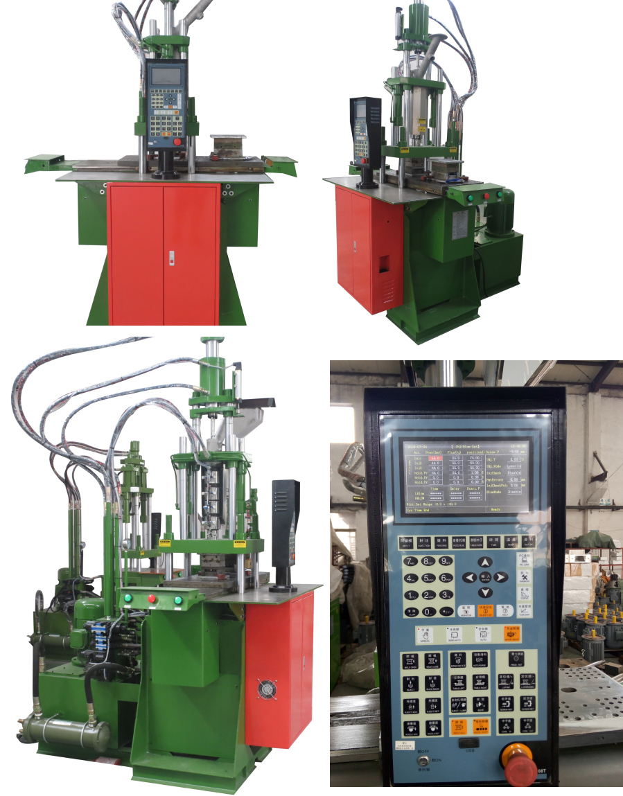 Servo Motor Vertical Double Slide Board Plastic Injection Molding Machines