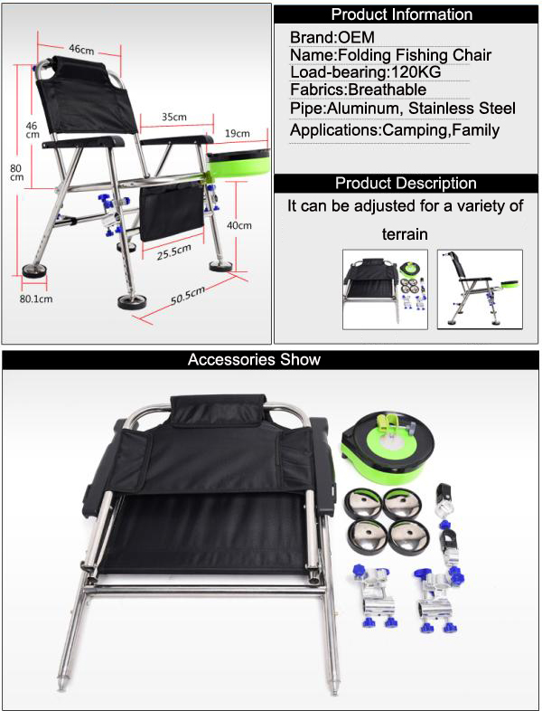 Portable light Weight Folding Fishing Chair Camping with Cup Holder