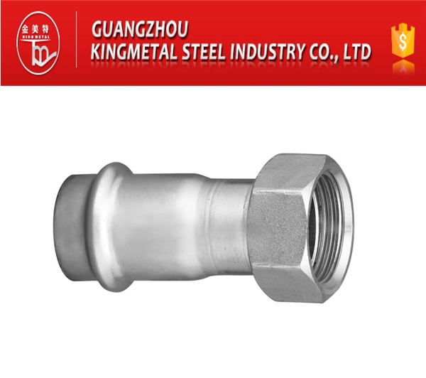 F304/316 Stainless Steel Press Fittings Female Adapter with Threaded End