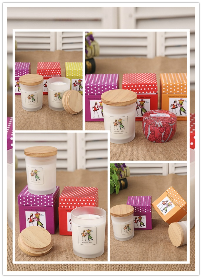 Wholesale Soy Wax Candles with Lid