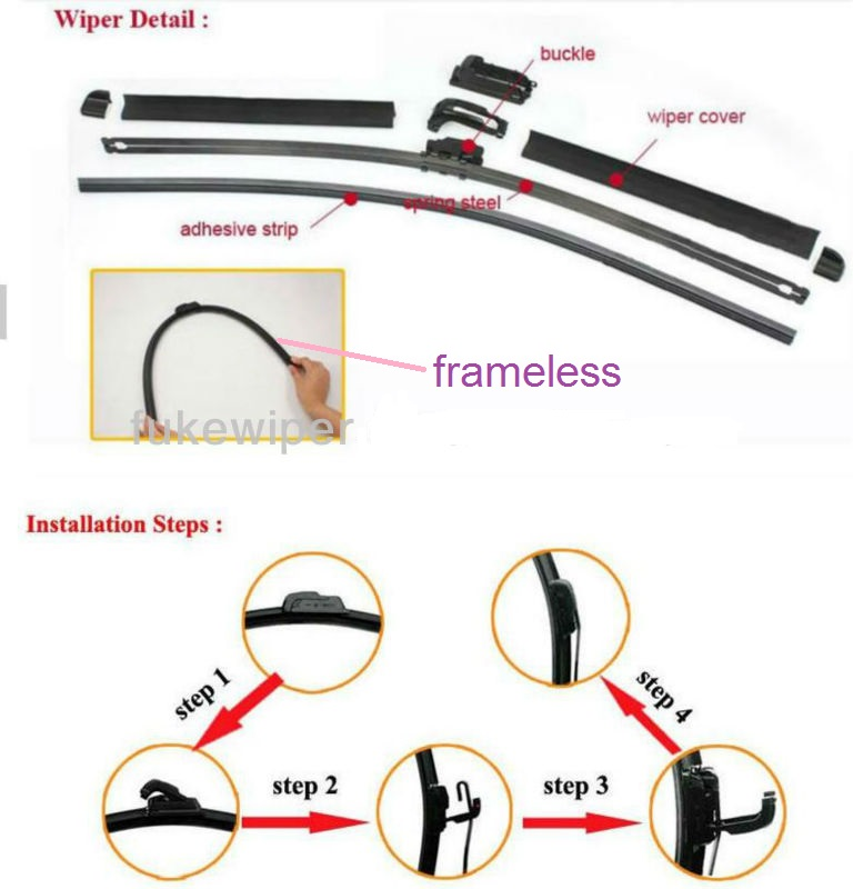 S800 4s Shop Auto Parts Rhd LHD Vision Saver Smooth All Season Windshield Rubber Clear View Bracketless Soft Wiper Blade