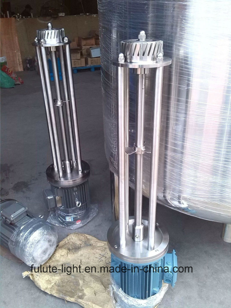 Food Grade Stainless Steel Sanitary Tank Bottom Batch High Shear Mixer