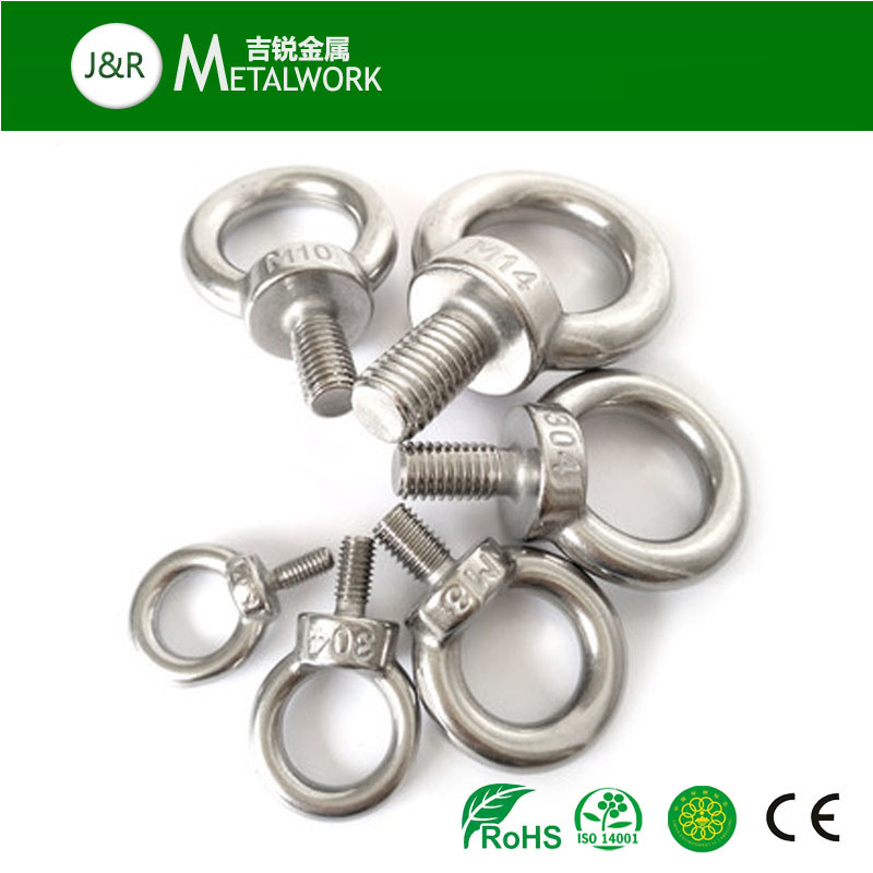 High Quality Stainless Steel SUS304 SUS316 Eye Bolt (M8-M64)