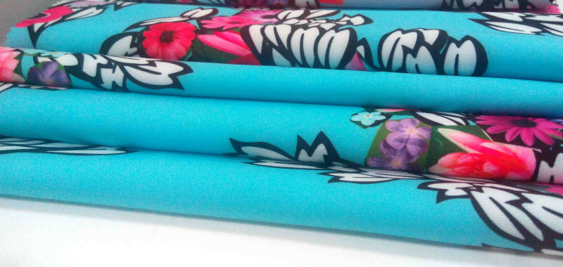 Polyester Spandex Flower Printing Garment Fabric/ Home Textile Fabric