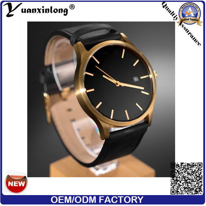 Yxl-067 Simple Design High Quality Watches Gold Plated Men's Business Wristwatch Promotional Men Watches