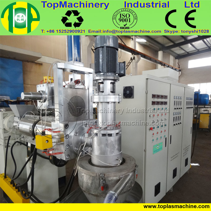 Hot Sale Plastic LDPE Granulating Machine for Ld HD Lld PP Film with Double Stage Extruder