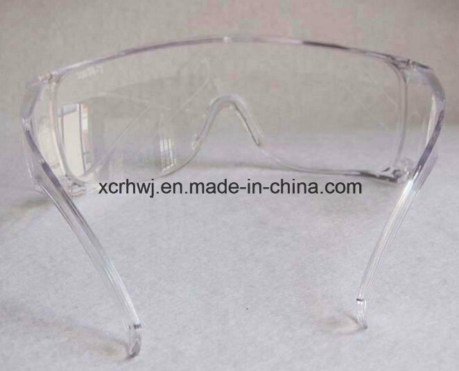 Clear Lens with Yellow Frame Safety Goggles, Protective Eyewear, Eye Glasses, Ce En166 Safety Glasses, PC Lens Safety Goggles Supplier