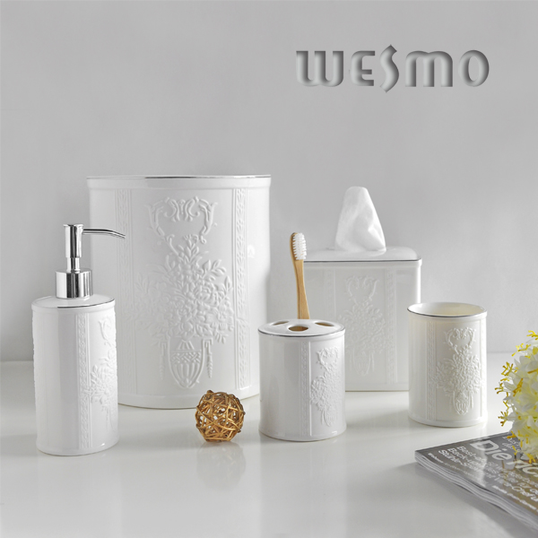 Floral Porcelain Bath Set (WBC0595B)