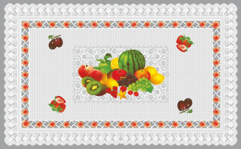 Hot Sale (TZ-0028) All in One Independent Design PVC Printed Transparent Tablecloth for Home/Party/Wedding