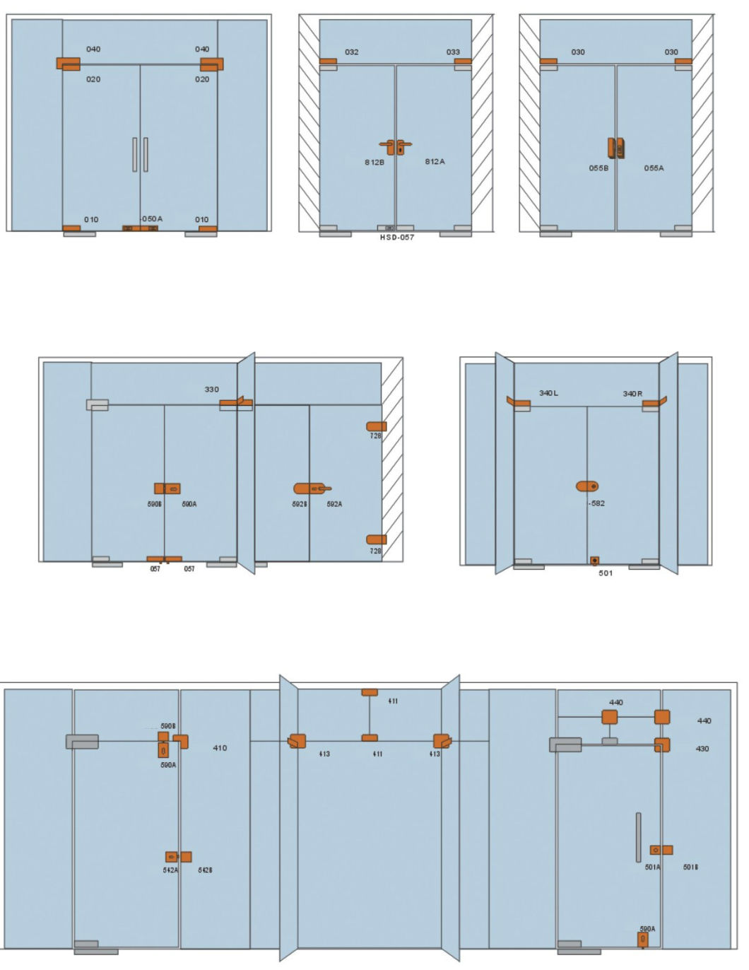 Glass Door Patch Fittings