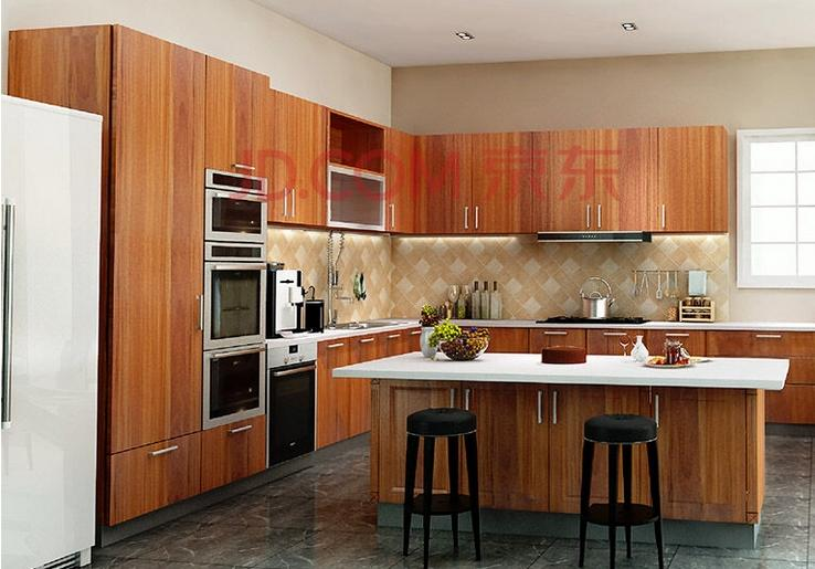 Wooden Kitchen Cabinet Waterproof (MOQ=1 set)