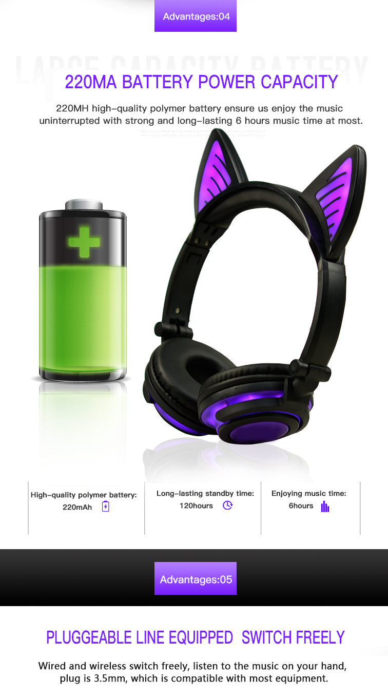 chargeable headphone