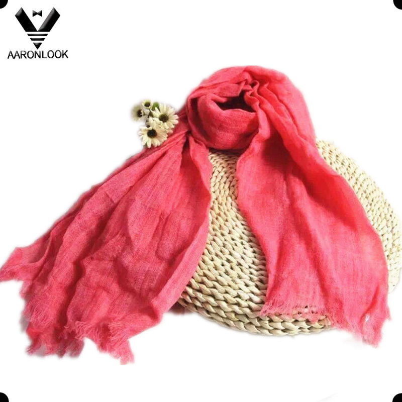 Wholesale Solid Color Spring Summer Checked Thin Wool Scarf
