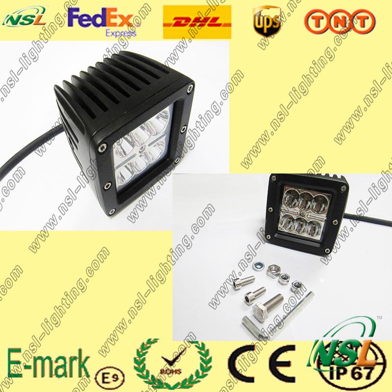 18W LED Work Light, 12V DC LED Work Light, Creee Series LED Work Light for Trucks