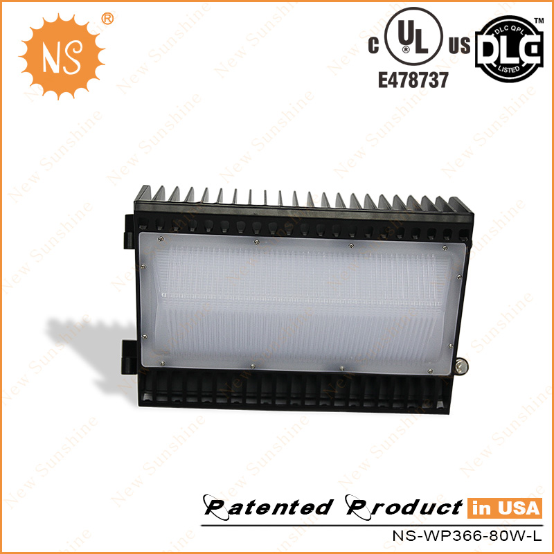 UL (E478737) Dlc Listed IP65 8000lm 80W LED Wall Packs Light