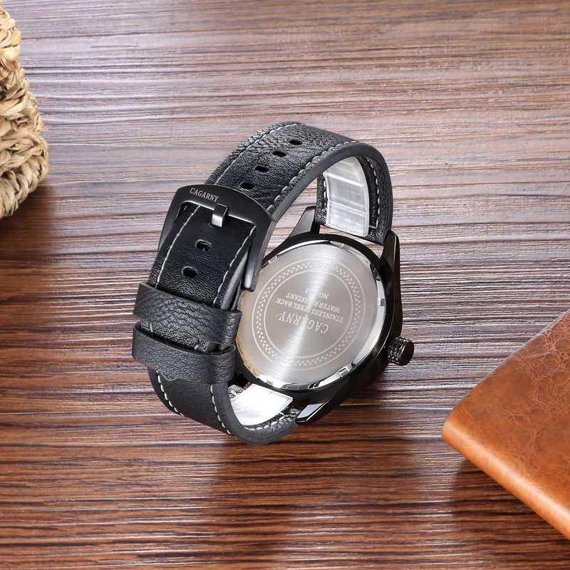 Fashion Unisex Wristwatch 43mm Case Ssbuckle IP Black Colored