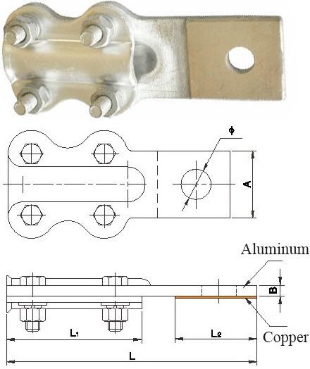 Jtl Type Copper & Aluminum Brazing Connecting Clamp