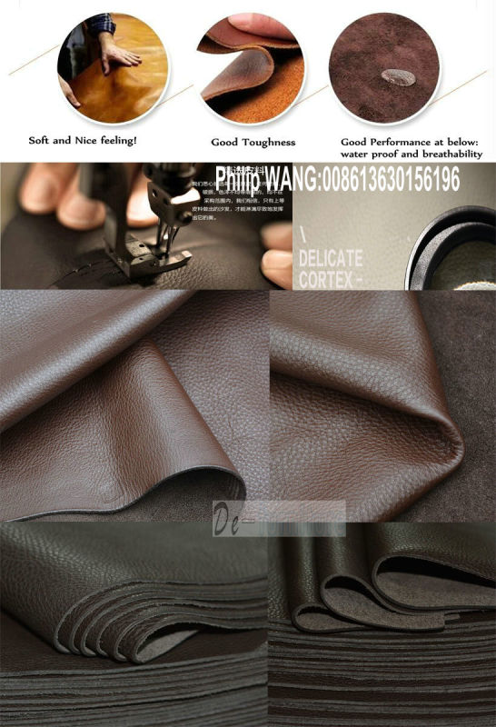 Modern Living Room Leather Sofa (829)