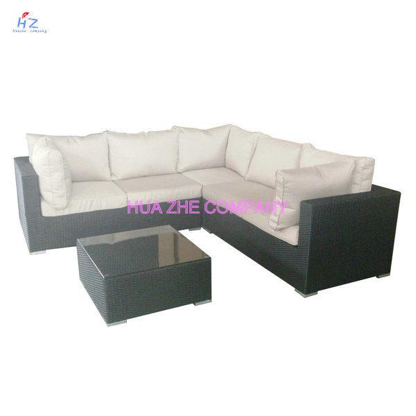 Hz-Bt124 Hot Sale Sofa Outdoor Rattan Furniture with Chair Table Wicker Furniture Rattan Furniture for Wicker Furniture