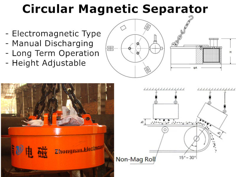 Circular Manual Discharging Mineral Separator Mc03-150L