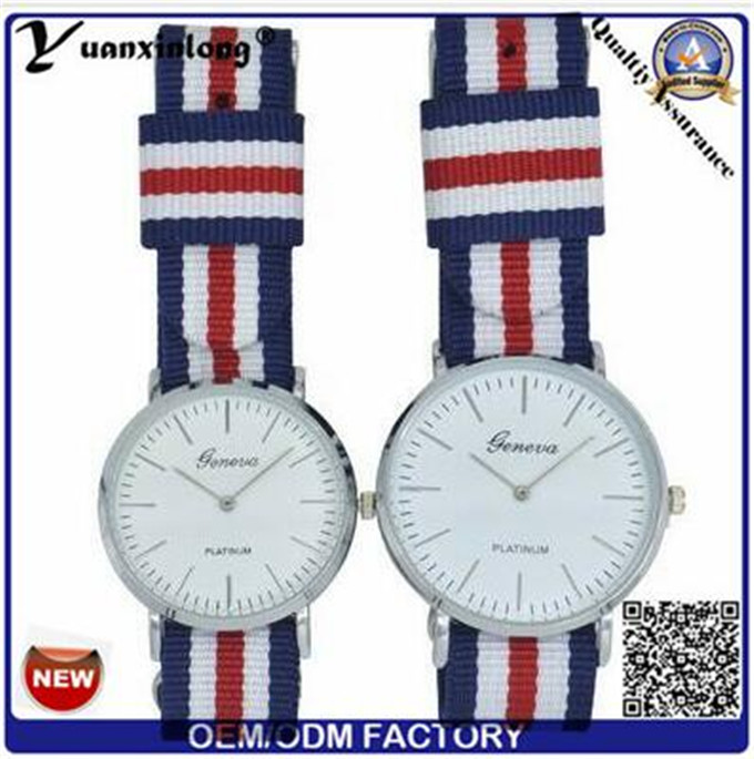 Yxl-305 Hotsale Fashion Nylon Valentine Couple Watch Trendy Quartz Mens Women Watch Dw Style Factory