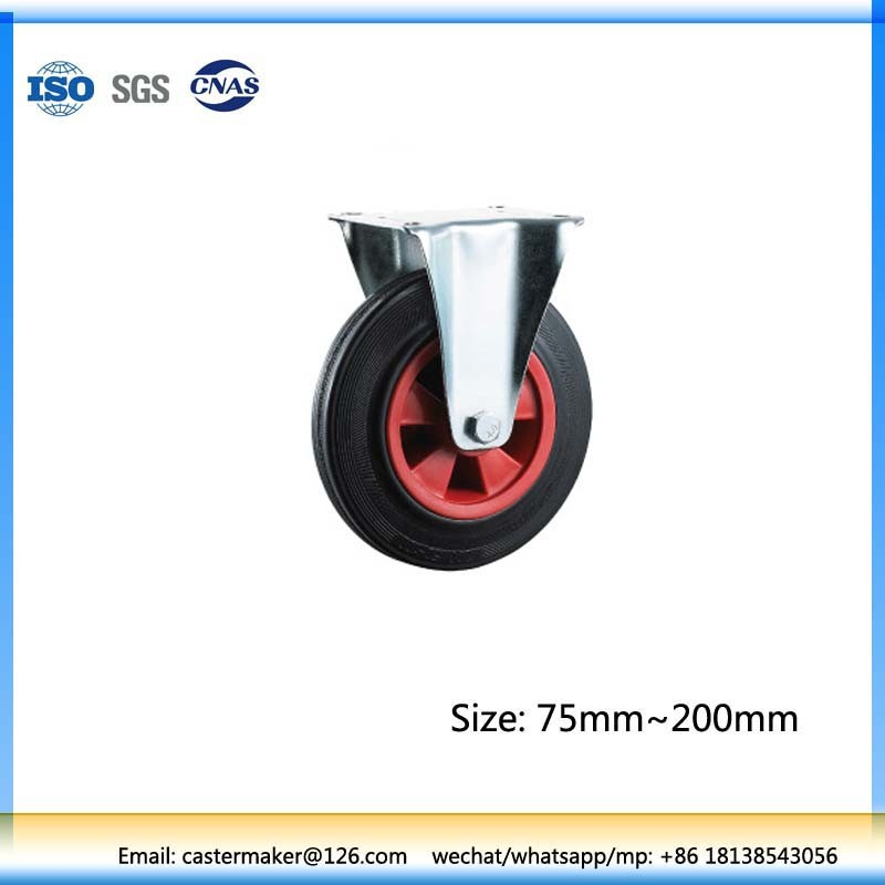 Industrial Hand Solid Trolley Rubber Roller Wheel