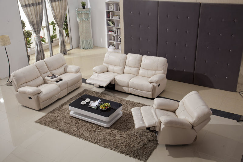 High Quality Soft Feeling Leather Recliner Sofa, Rocky Sofa (Y988)