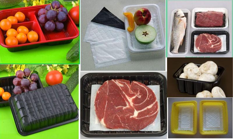 Black Food Grade Alveolar Hexagon PP Pomegranate Tray Liner Insert