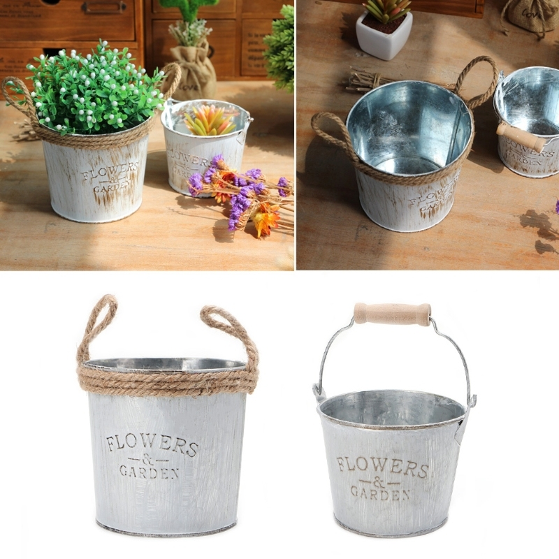 Wholesale Creative Garden Decoration Iron Craft Planter Flower Pot