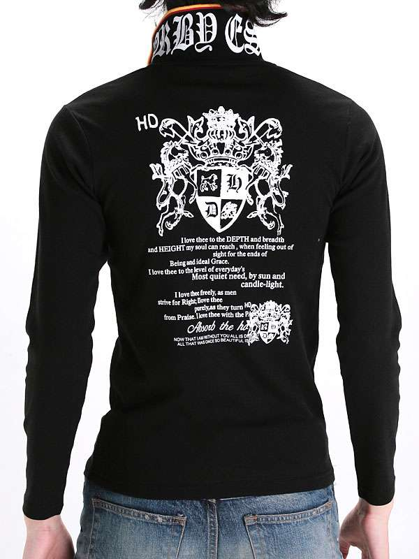 Custom Cotton Fitted Printing Wholesale Long Sleeve Men Polo T-Shirt