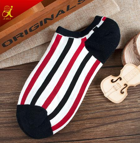 New Design Fashion Pattern Stripe Socks Men Ankle Socks