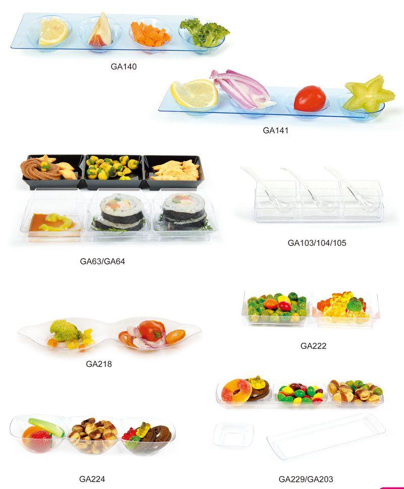 Tableware Plastic Dish Disposable Scallop Shaped Dish
