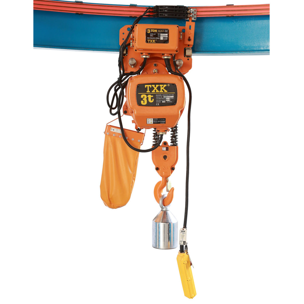 China Manufacturer Competive Price 3 Ton Electric Chain Hoist