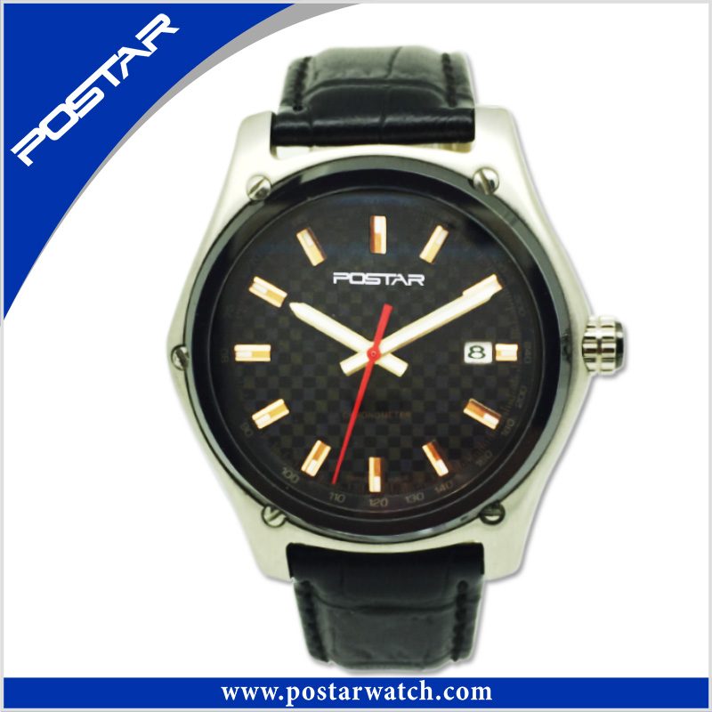 Manufacturer Custom Logo OEM Brand Sport Men's Leather Watch with High Quality