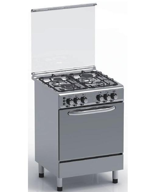 Full Stainless Steel 4 Gas Burner Stove with Gas Oven