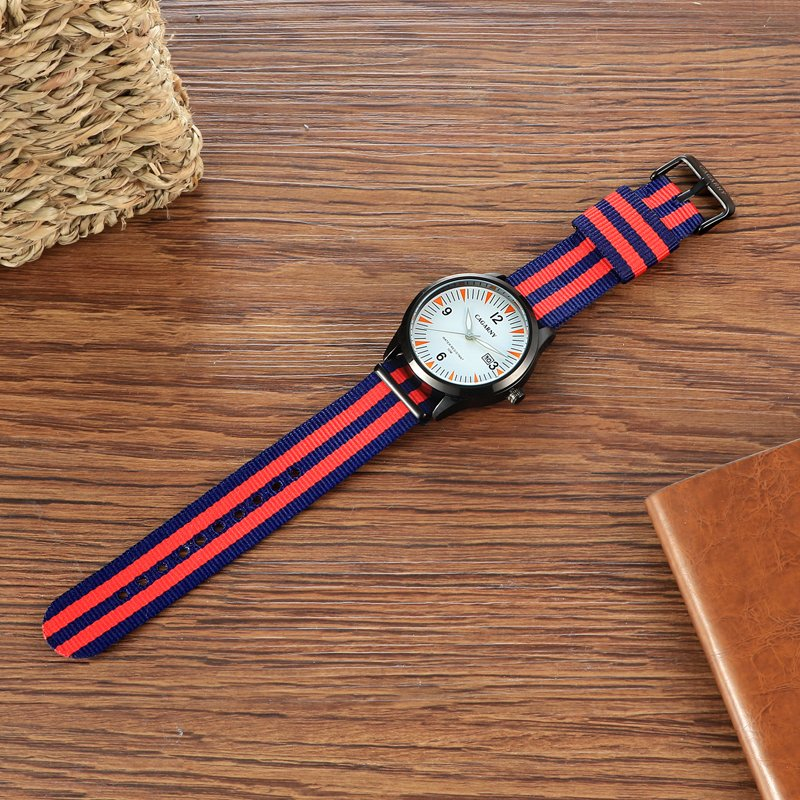 Fashion Fabric Wristwatch 42mm Case Fabric Strap