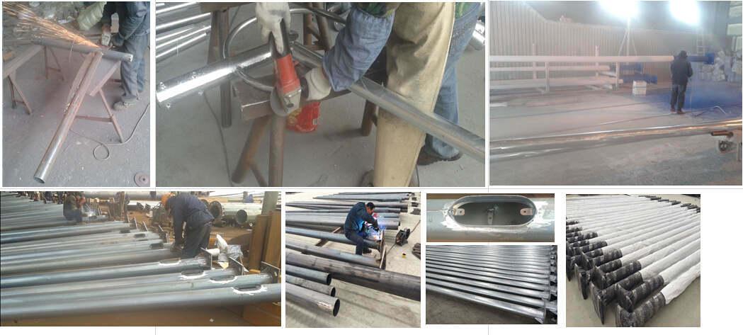 Painted Steel Pole in Height 4m 5m 6m 7m 8m 9m 10m 11m 12m
