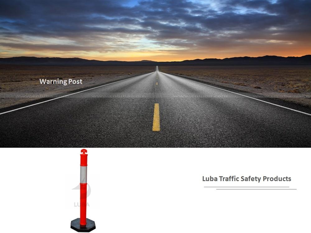 Roadside Traffic Control Rebound Warning Post
