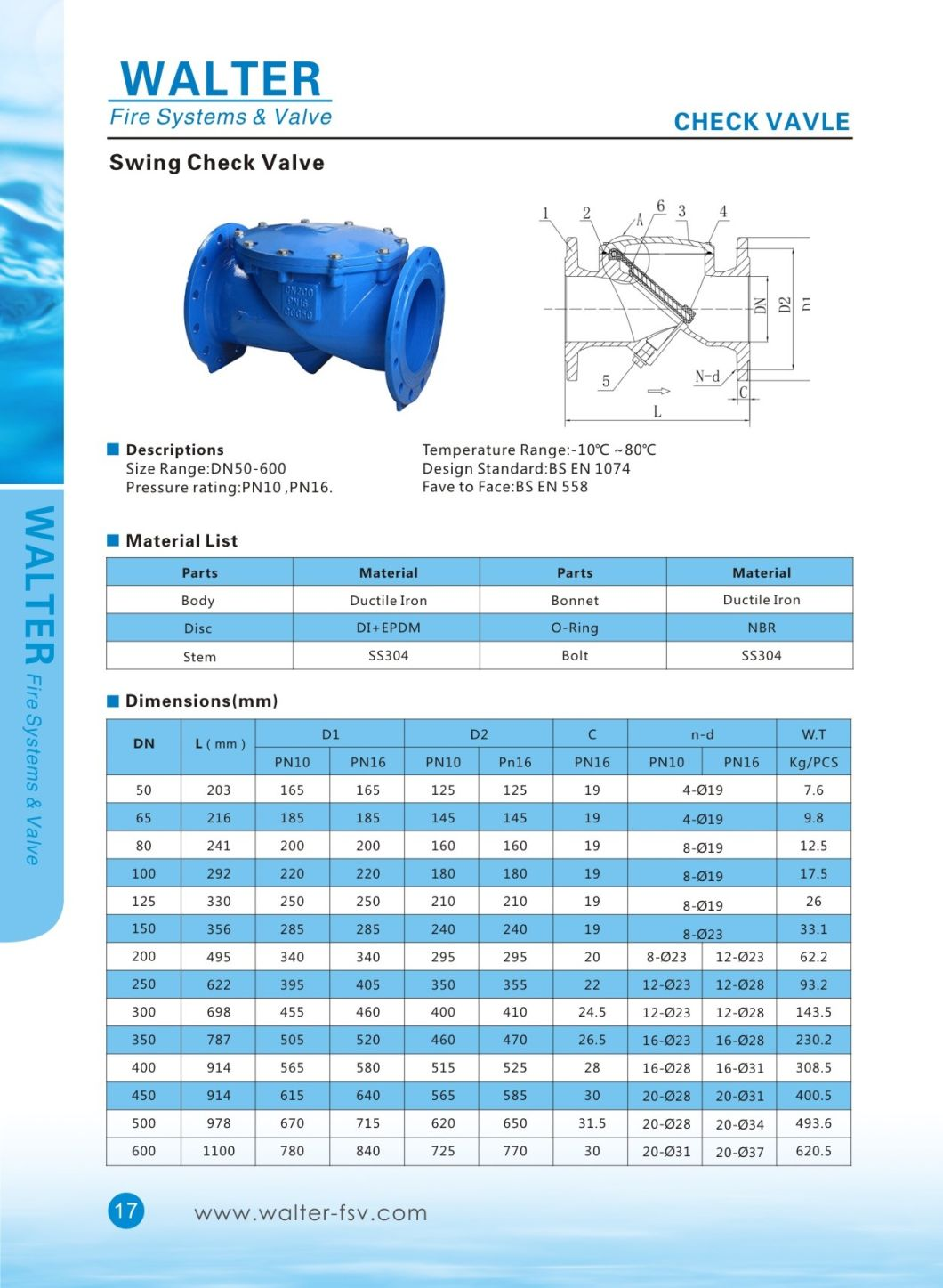 Rubber Flap Swing Check Valve